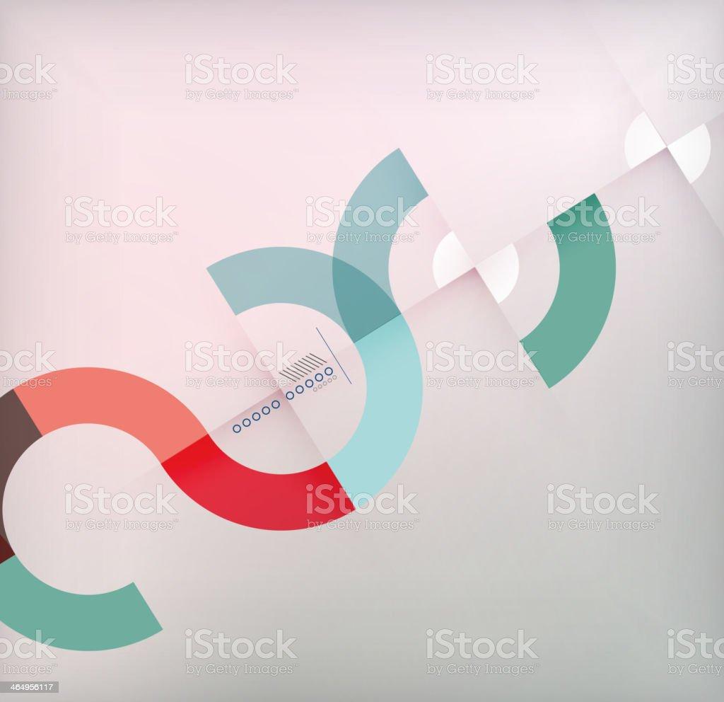 Geometric shapes circles modern background vector art illustration