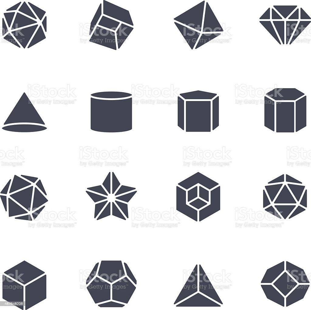 Geometric Shapes Icon vector art illustration