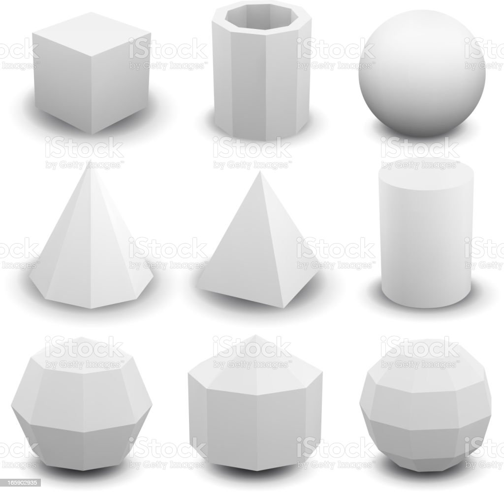 Geometric shapes royalty-free stock vector art