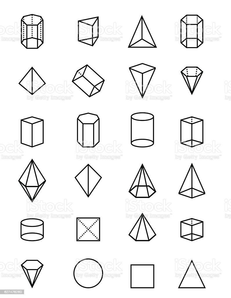 Geometric shapes vector art illustration