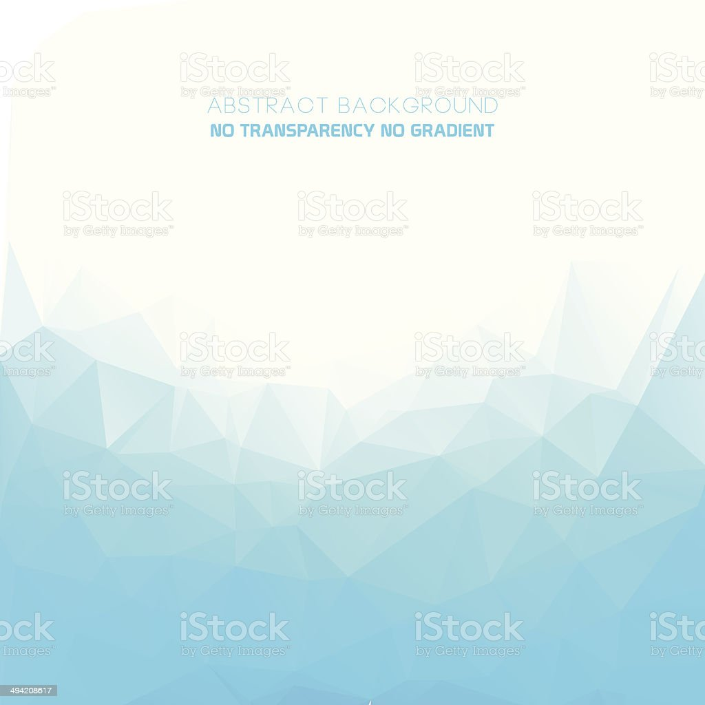 Geometric style abstract polygonal blue background vector art illustration