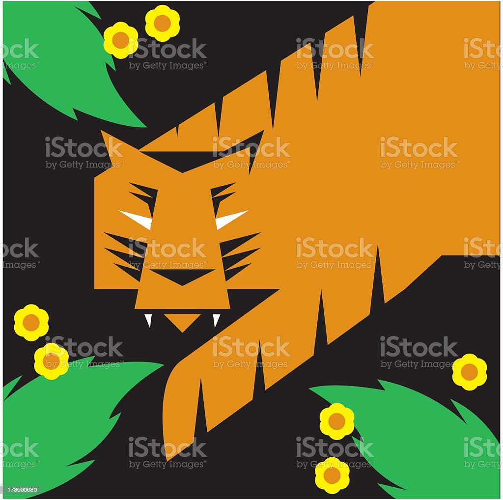 Geometric Tiger Design royalty-free stock vector art