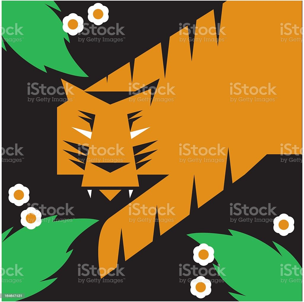 Geometric Tiger royalty-free stock vector art