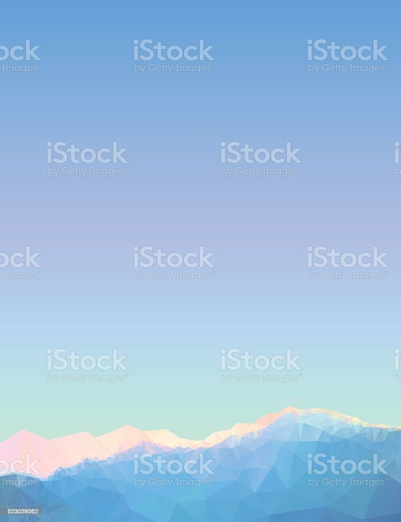 Geometric triangular mountain landscape. vector art illustration