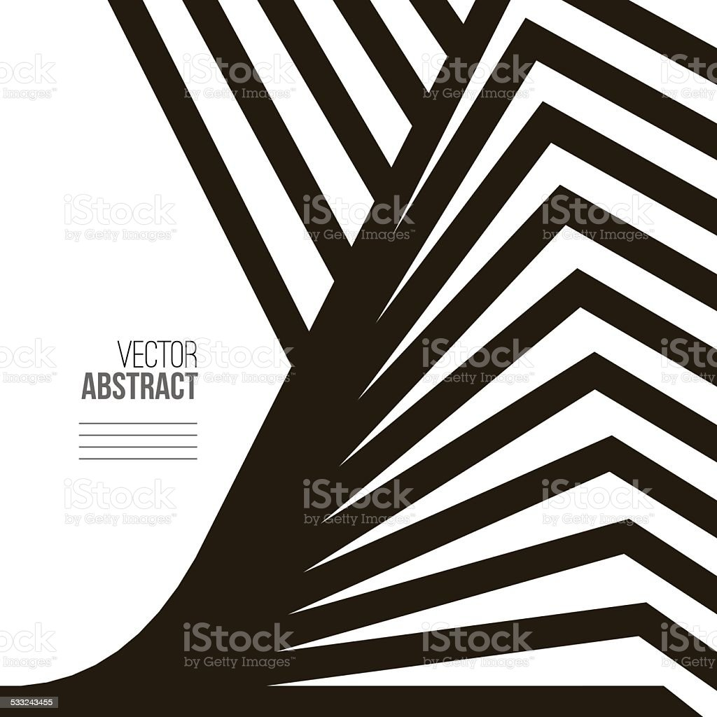 Geometric Vector Black and White Background vector art illustration