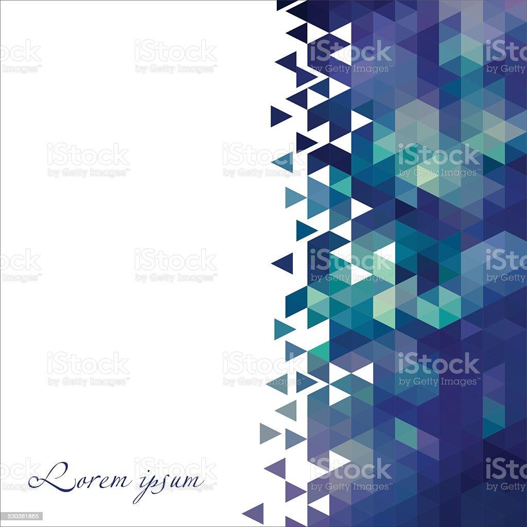 Geometric vector card. vector art illustration