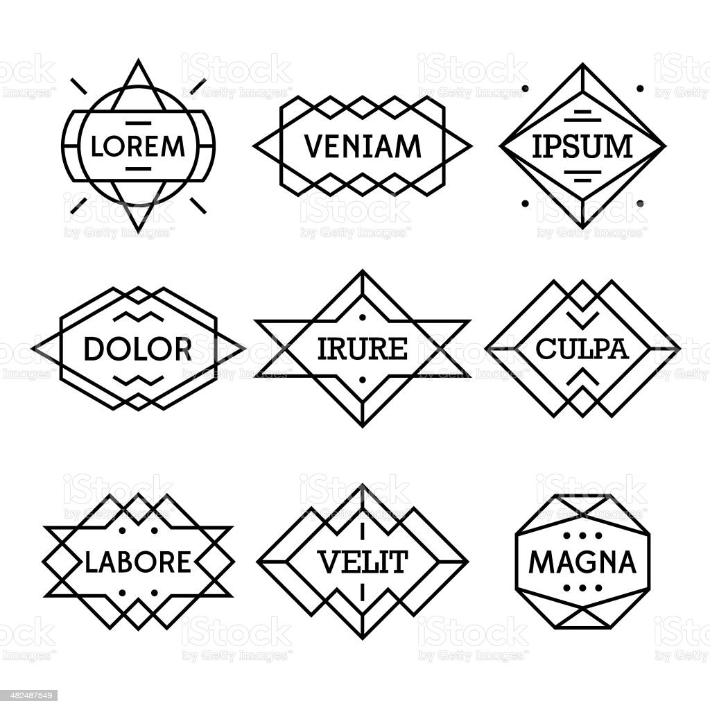 geometric vintage label vector art illustration