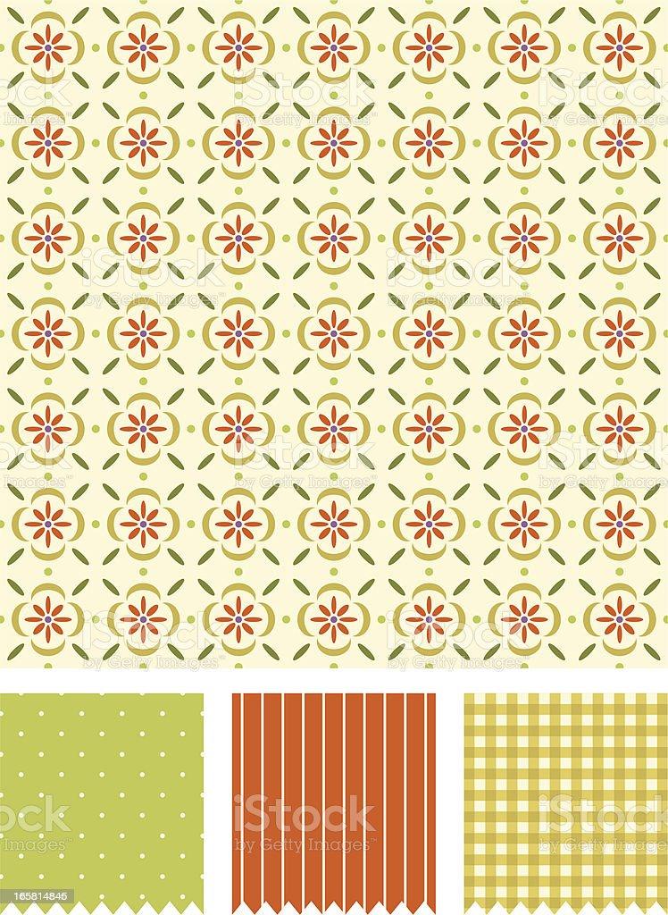 geometric vintage pattern vector art illustration