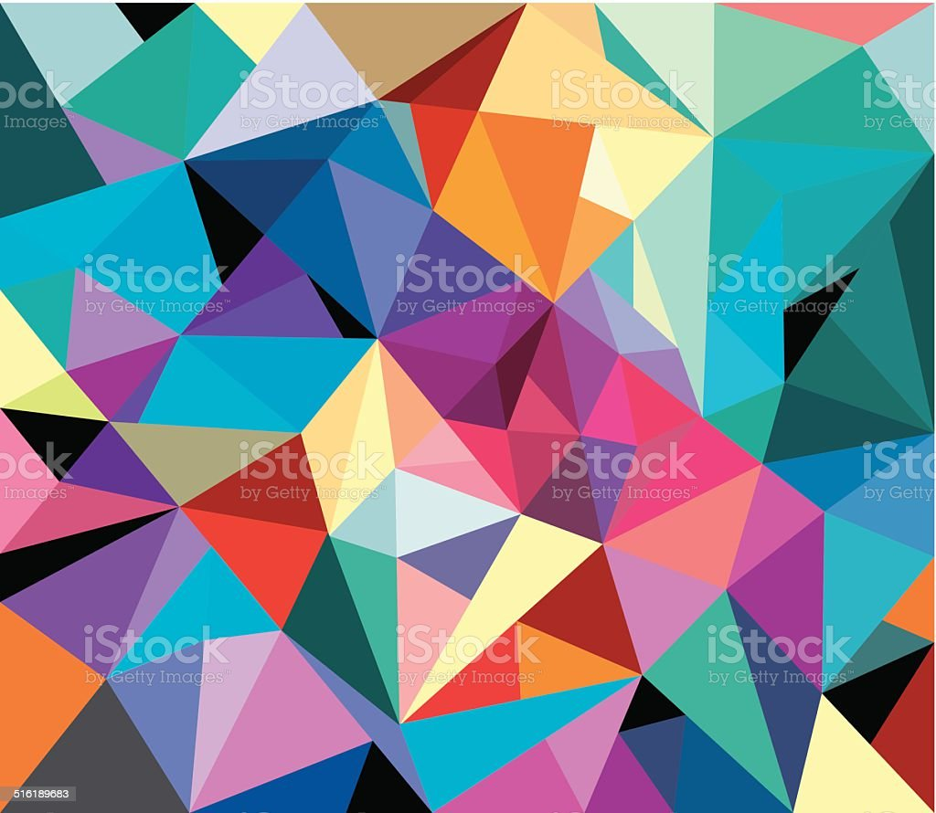 Geometrical background vector art illustration