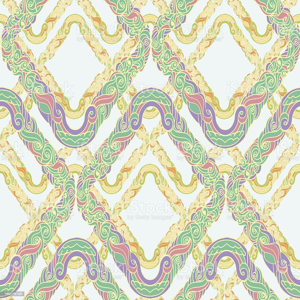 geometrical baroque pattern royalty-free stock vector art
