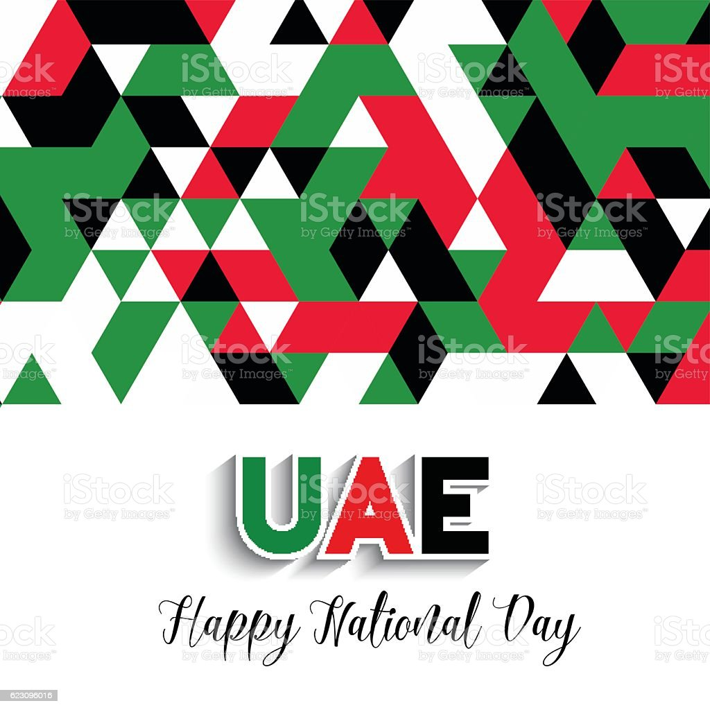 Geometrical design background for United Arab Emirates National vector art illustration