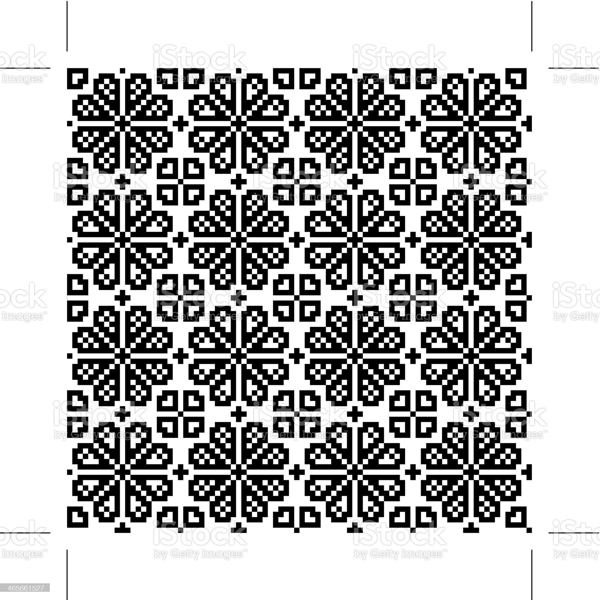 Geometrical flower seamless pattern royalty-free stock vector art