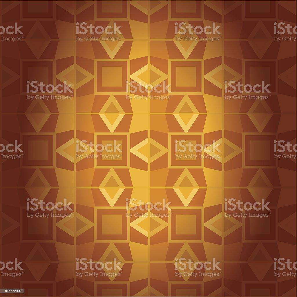 Geometrical golden damask seamless texture royalty-free stock vector art