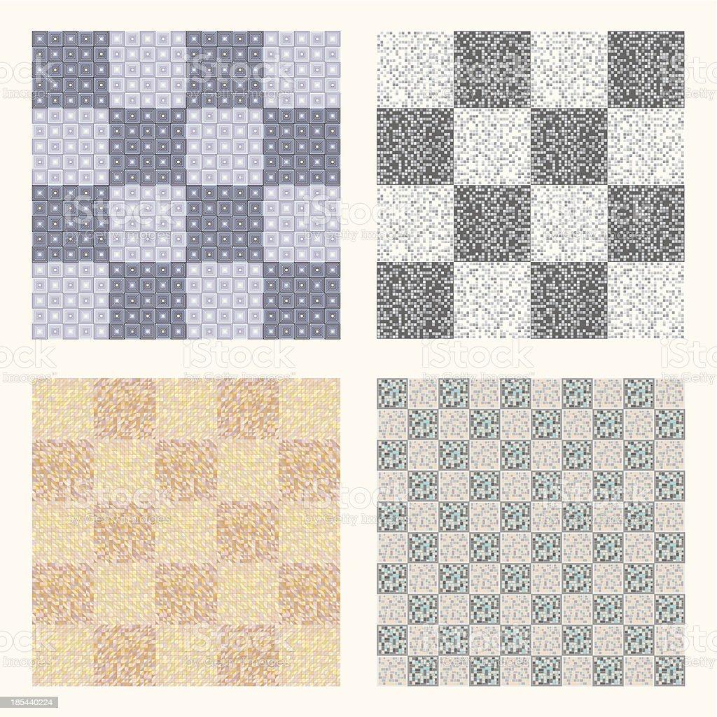 Geometrical pattern, seamless background for floor tiles royalty-free stock vector art