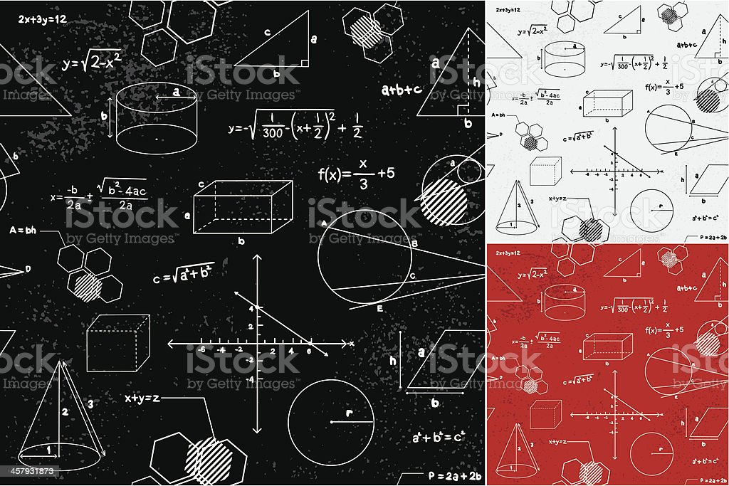Geometry seamless pattern vector art illustration
