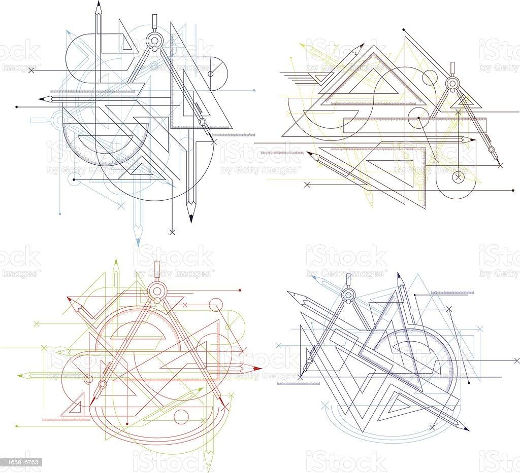 geometry tool royalty-free stock vector art