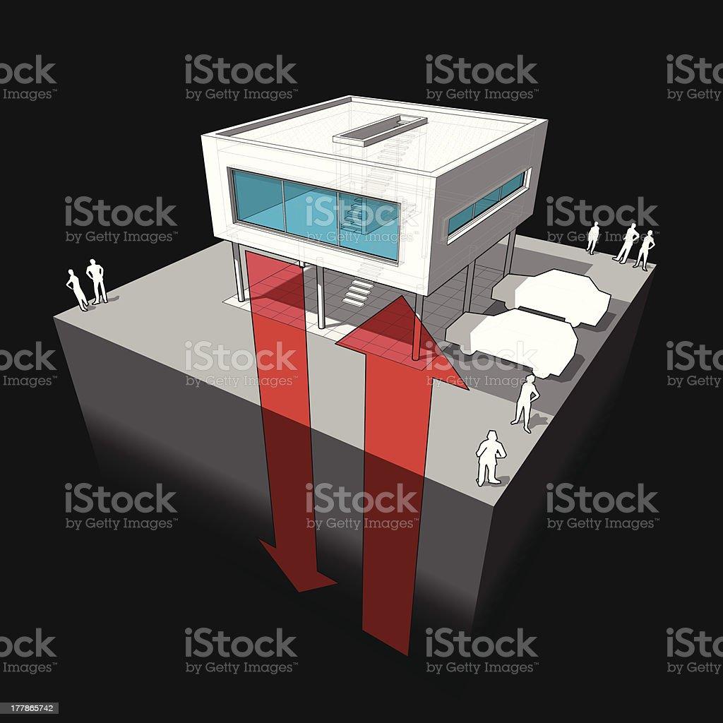 Geothermal energy diagram royalty-free stock vector art