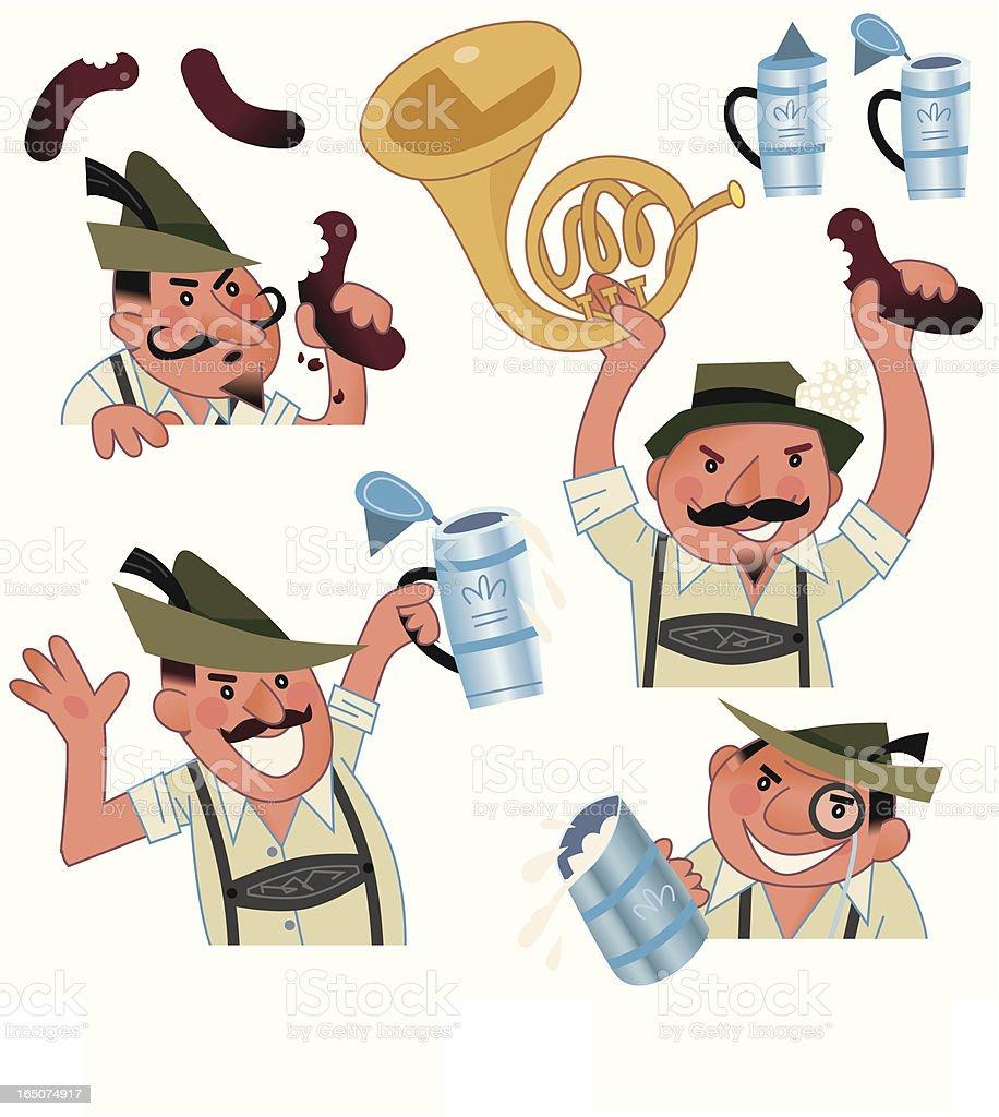German Beer Festival royalty-free stock vector art