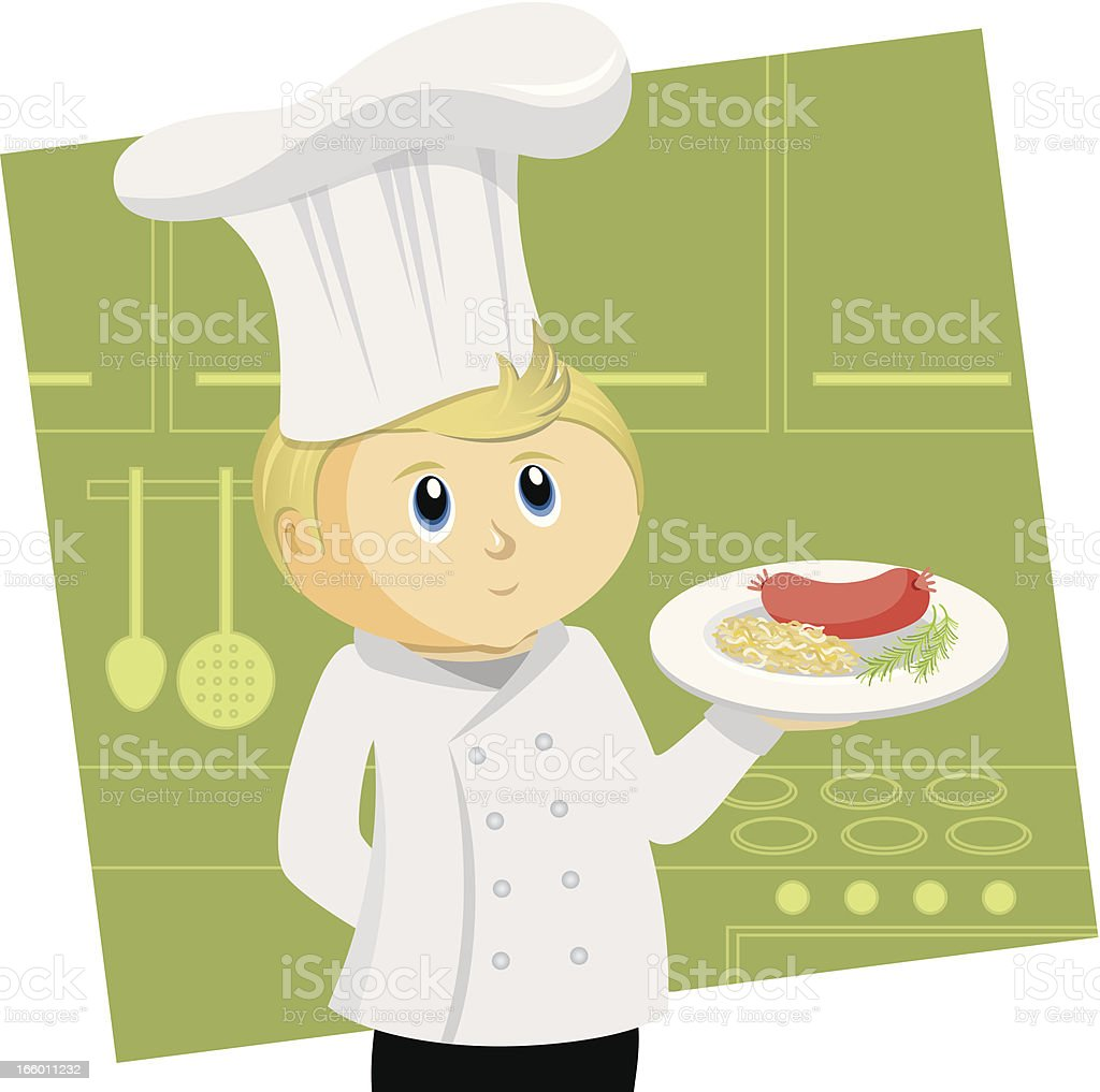 German Chef royalty-free stock vector art