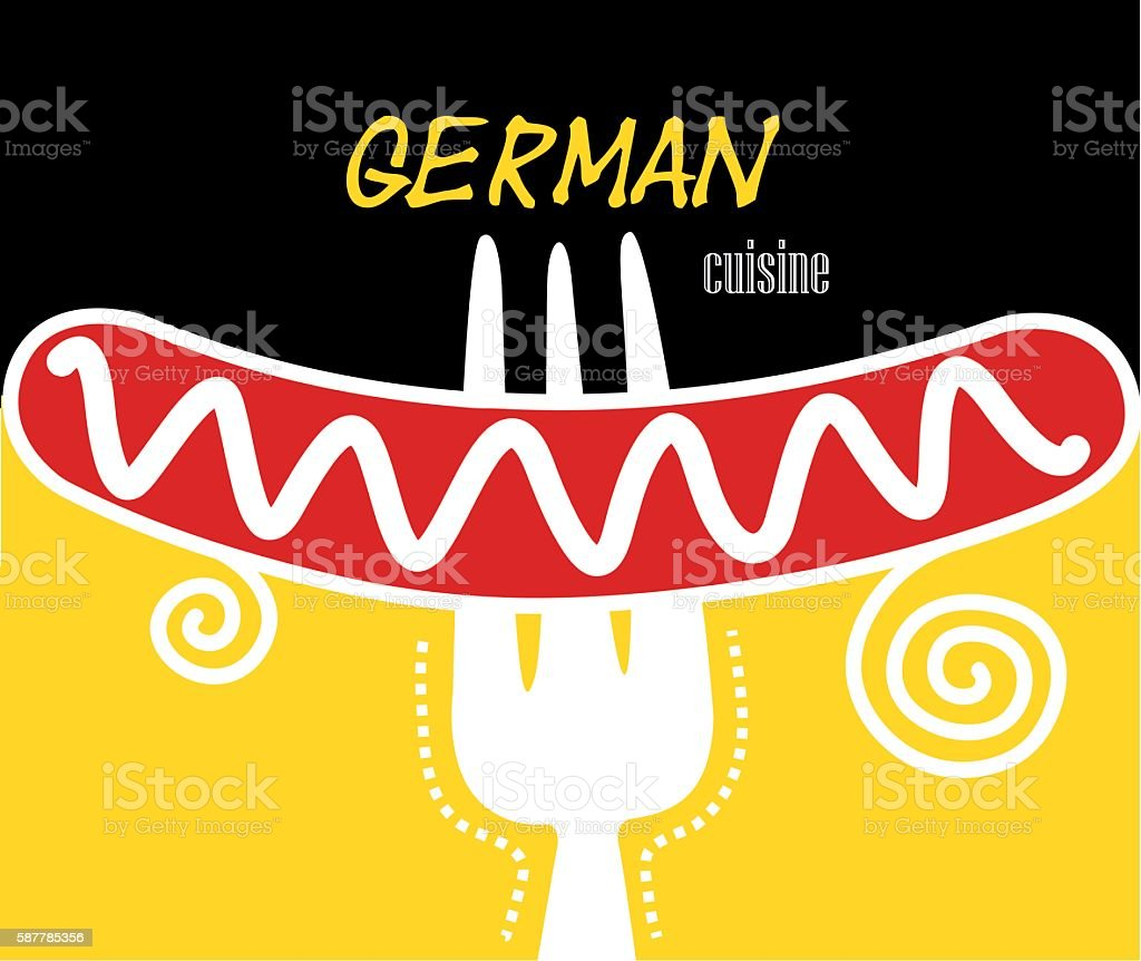 German cuisine vector art illustration