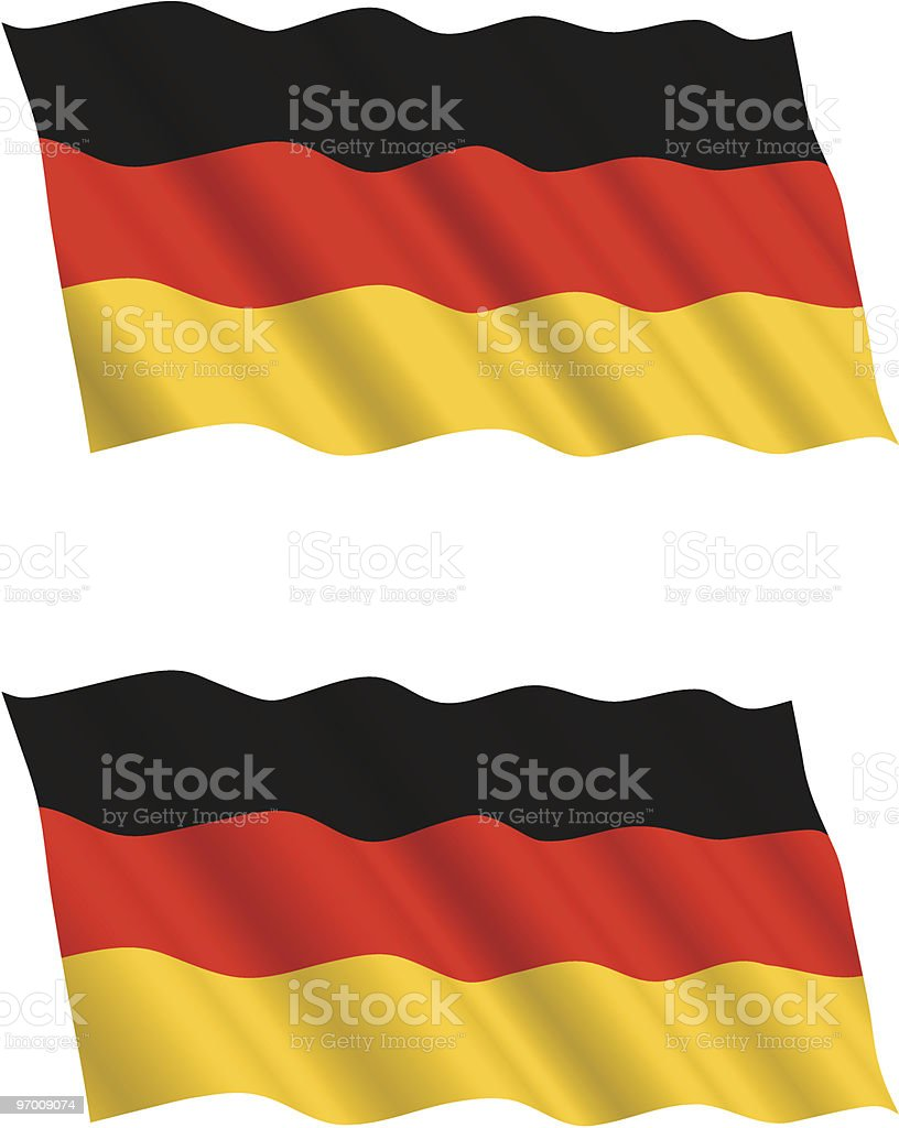 German Flag Flying in the Wind 2 royalty-free stock vector art