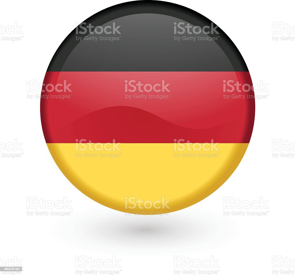 German flag vector button vector art illustration