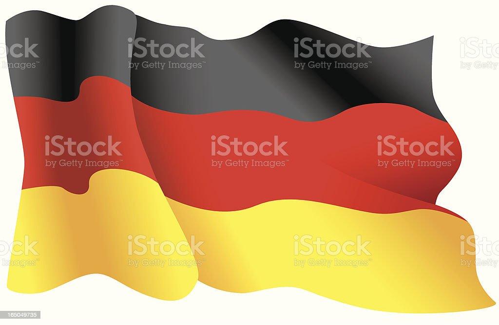 German Flag royalty-free stock vector art