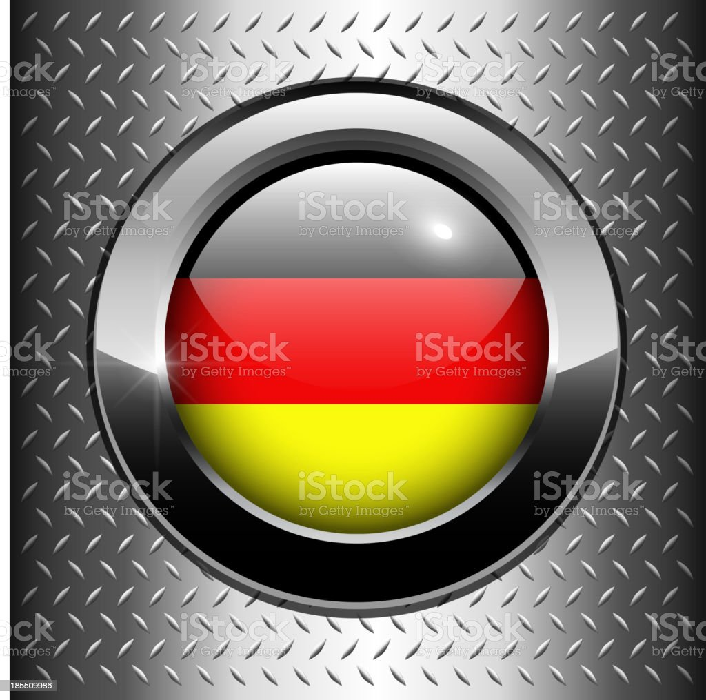 German, Germany flag button royalty-free stock vector art