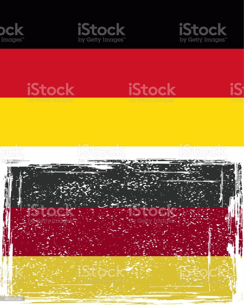 German grunge flag royalty-free stock vector art