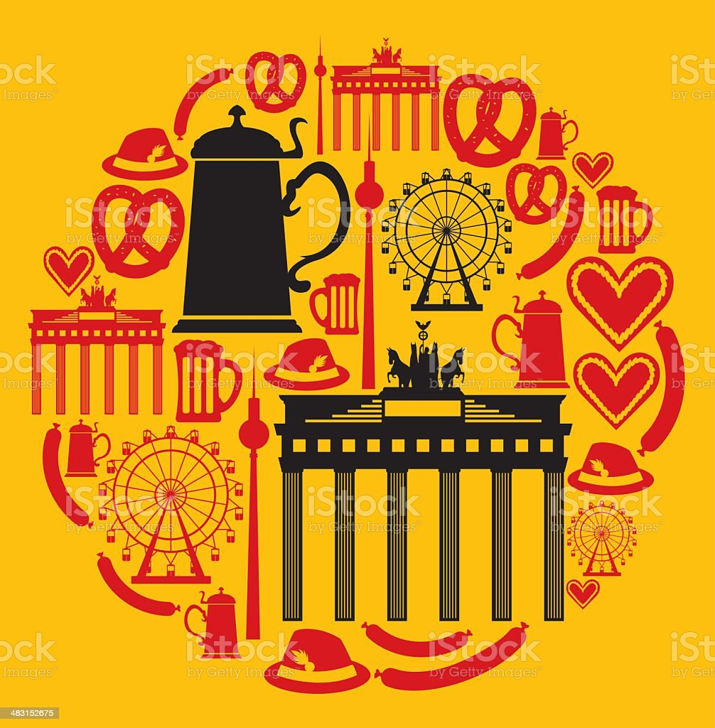 German Icon Montage royalty-free stock vector art