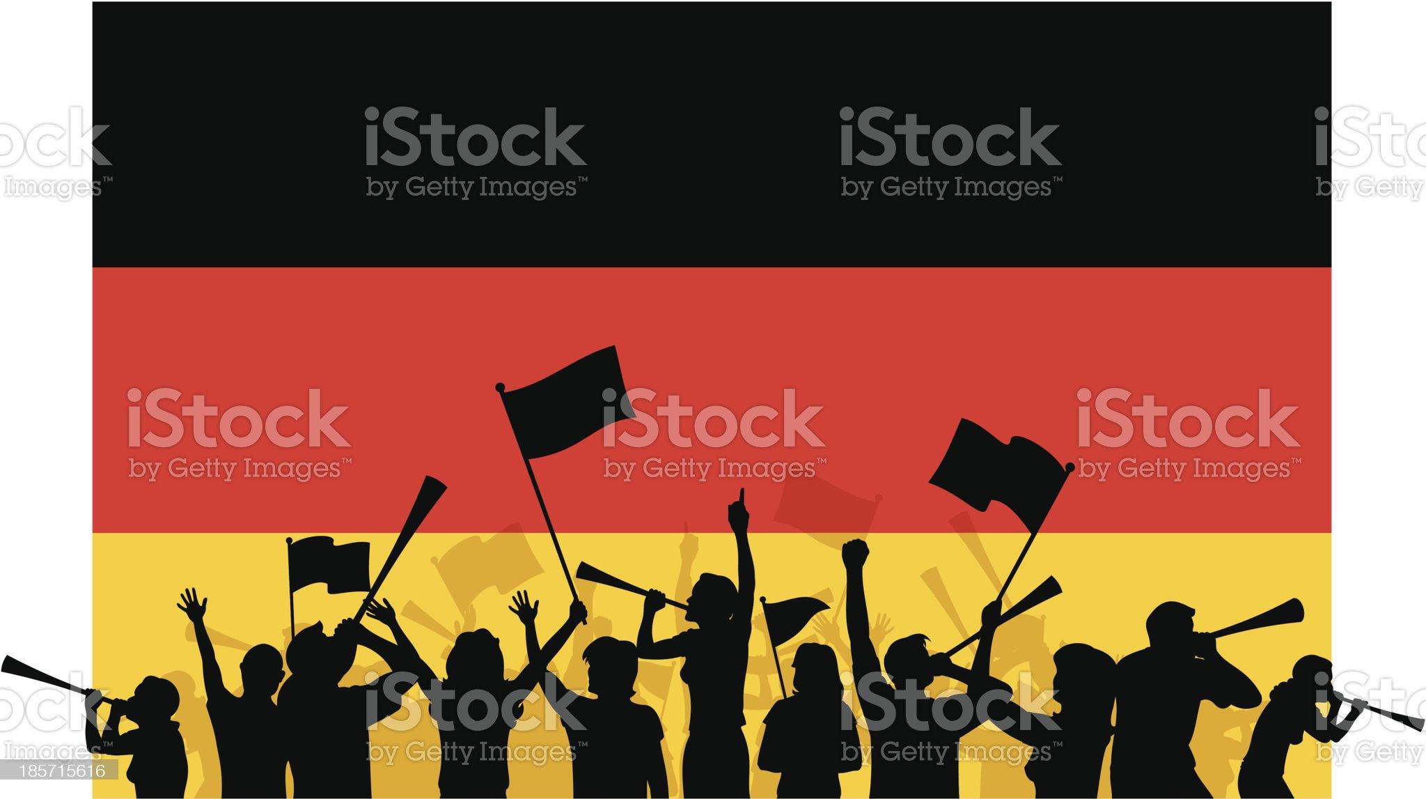 German Soccer Fans royalty-free stock vector art