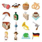 Germany cartoon icons