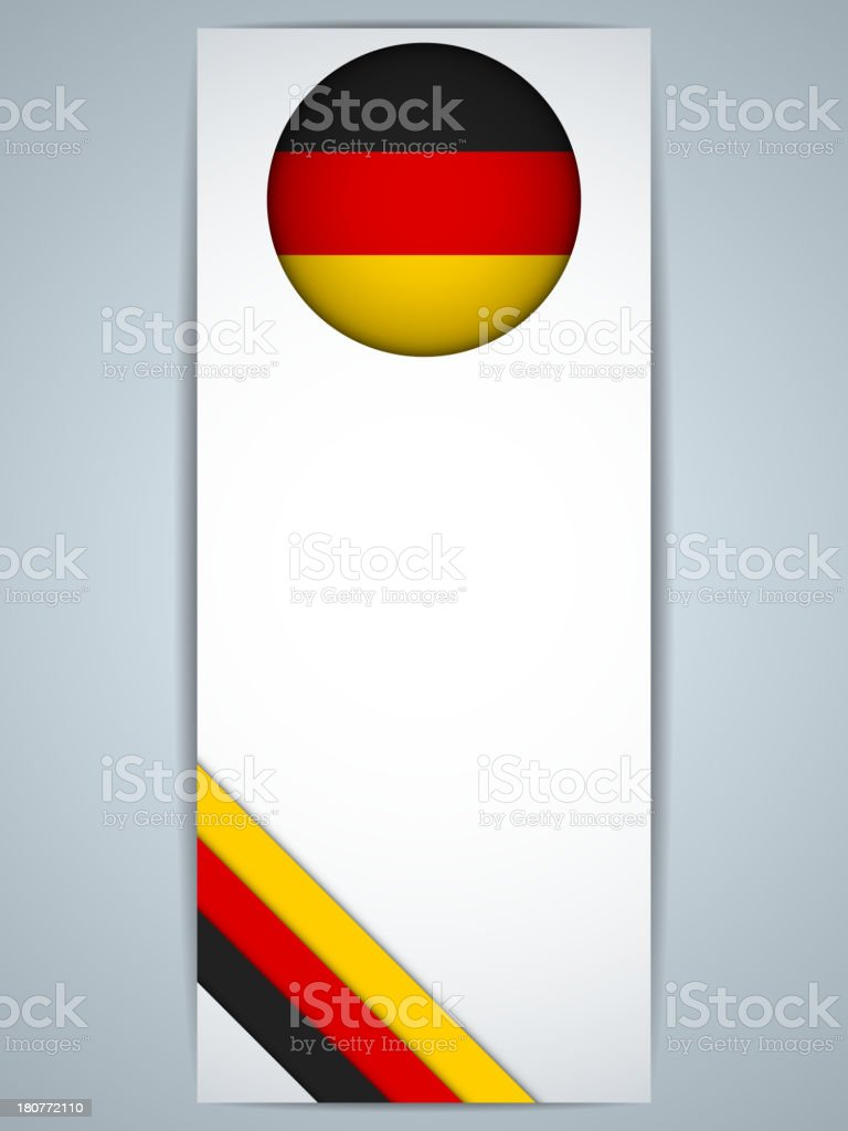 Germany Country Banner royalty-free stock vector art