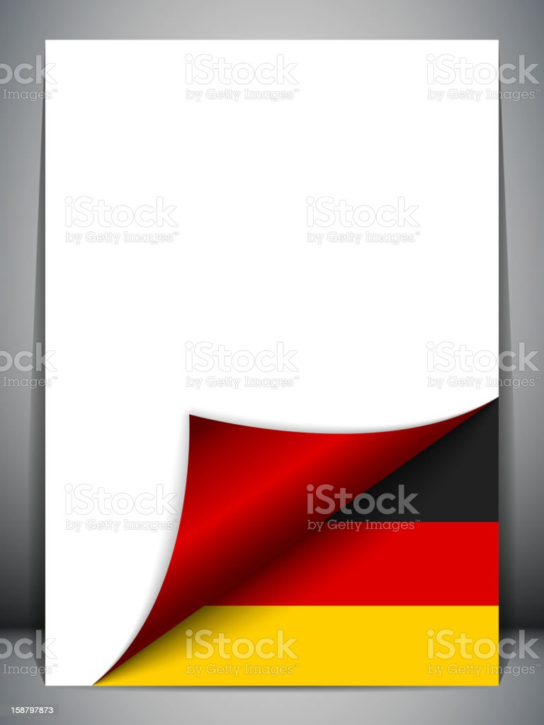 Germany Country Flag Turning Page royalty-free stock vector art