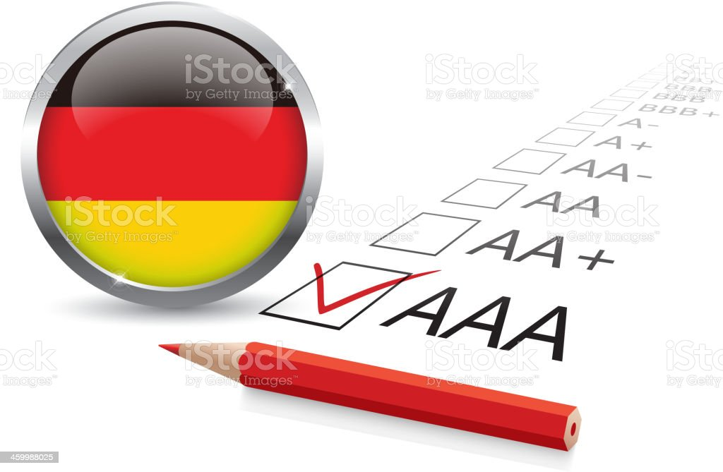 Germany credit rating royalty-free stock vector art