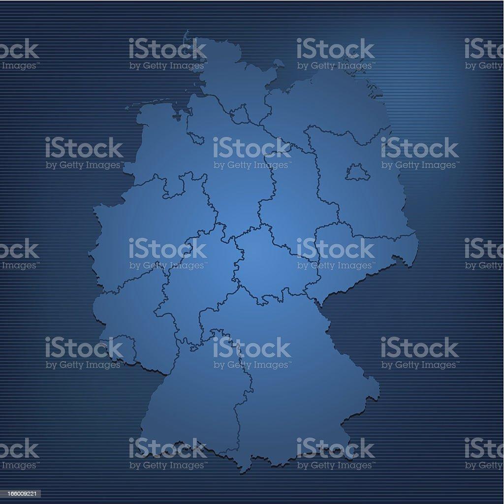 Germany dark map royalty-free stock vector art