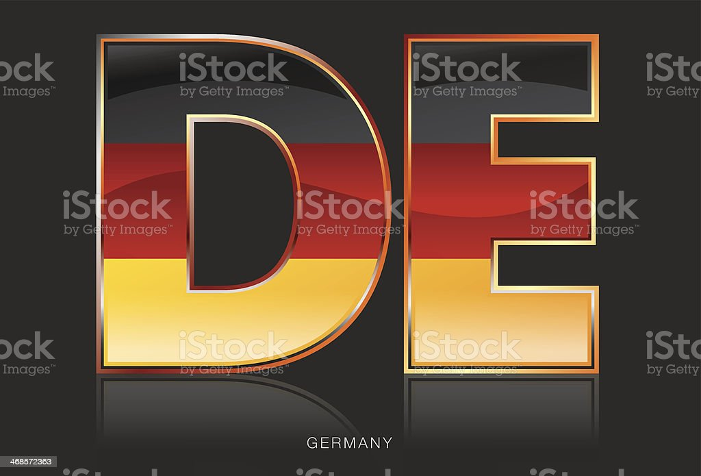 Germany - DE royalty-free stock vector art