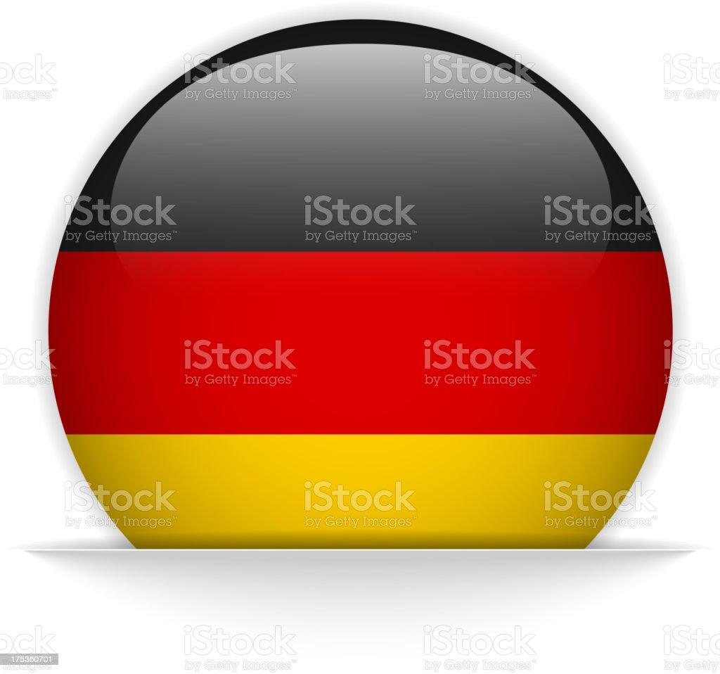 Germany Flag Glossy Button Hidden royalty-free stock vector art