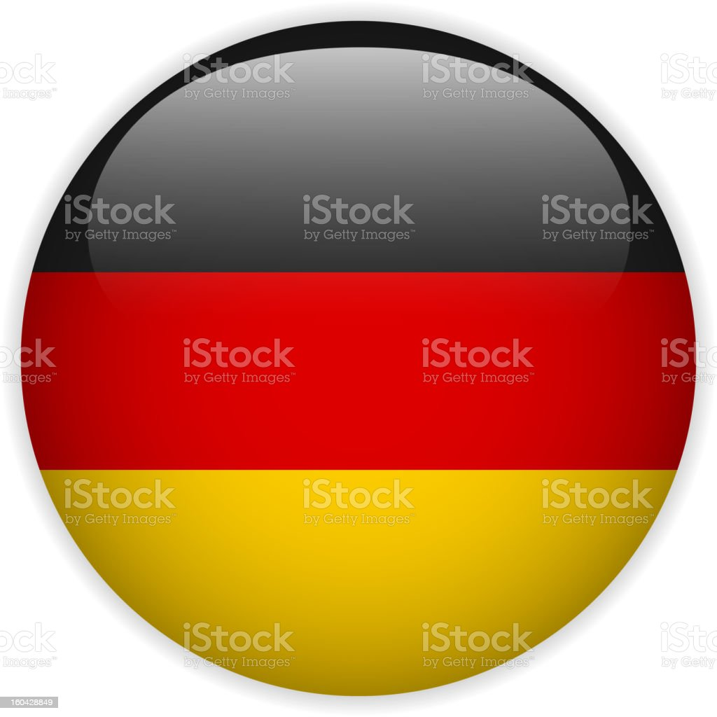 Germany Flag Glossy Button vector art illustration