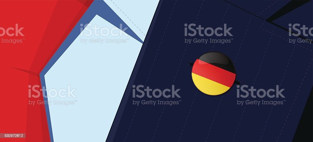Germany flag lapel pin. vector art illustration