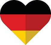 Germany flat heart flag