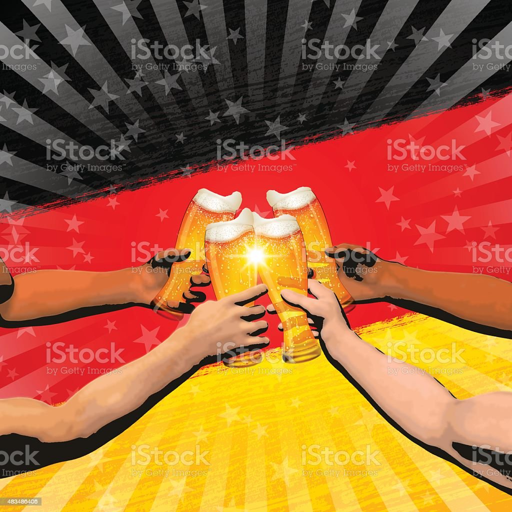 Germany holiday background[Cheers] vector art illustration