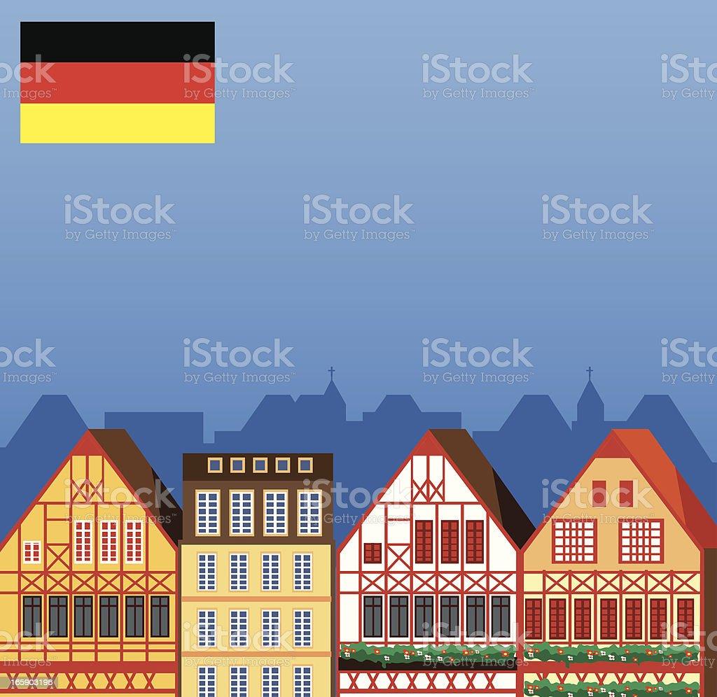 Germany houses royalty-free stock vector art