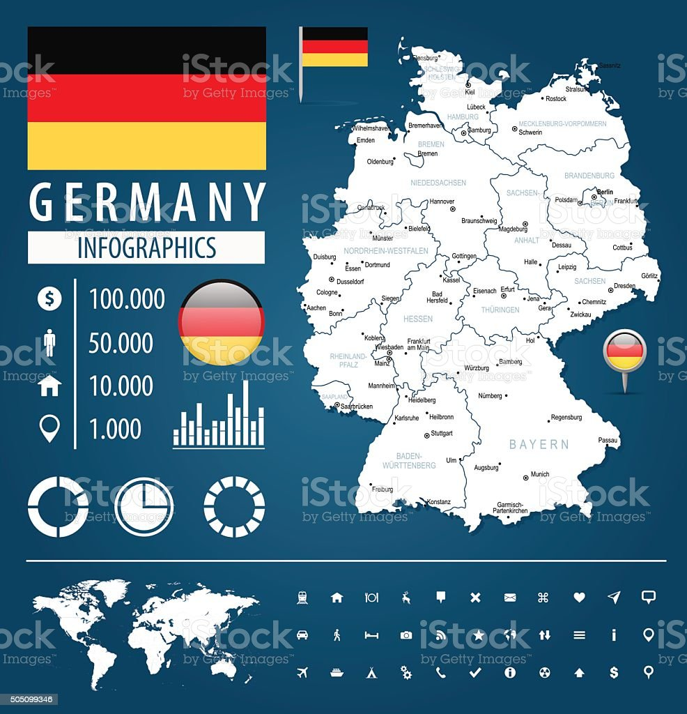 Germany - infographic map - Illustration vector art illustration
