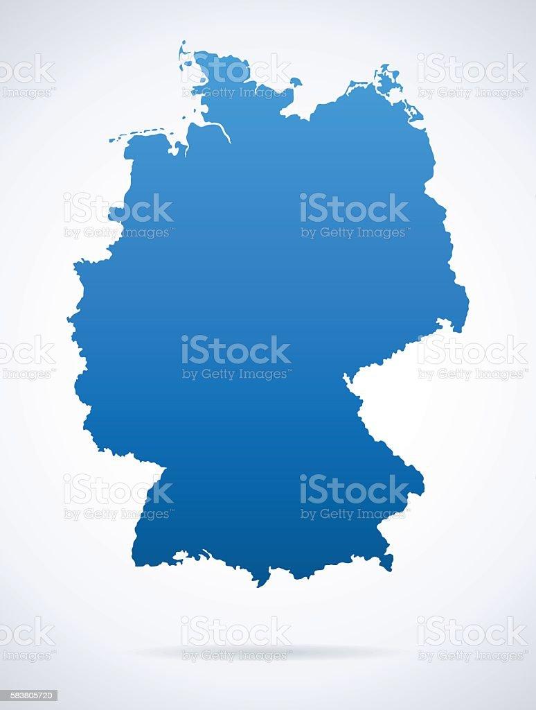 Germany Map stock vector art 583805720 iStock