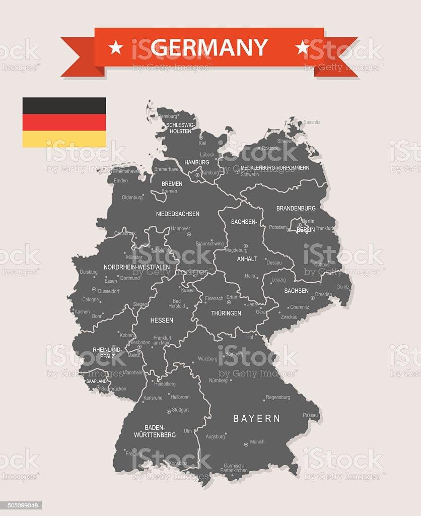 Germany - old-fashioned map - Illustration vector art illustration