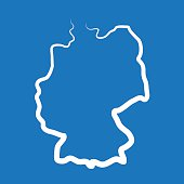 Germany outline map made from a single line
