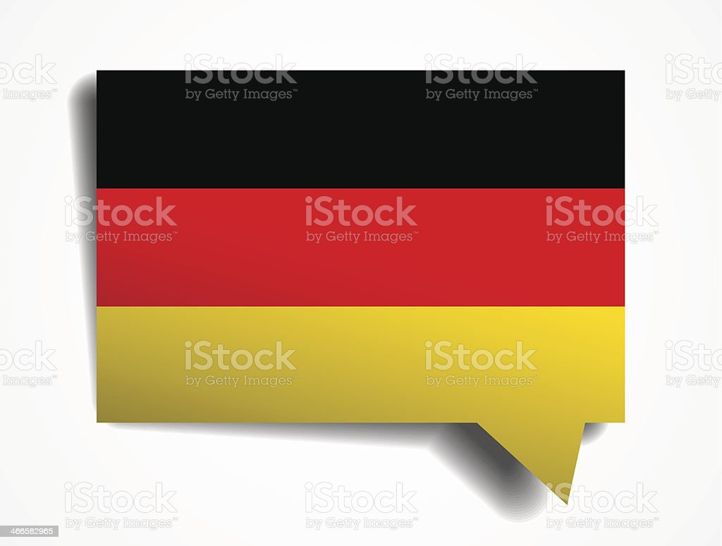 germany paper 3d realistic speech bubble on white background royalty-free stock vector art