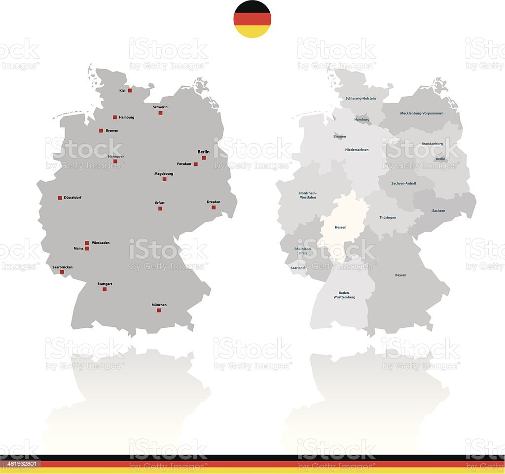 Germany Rough Vector Map royalty-free stock vector art