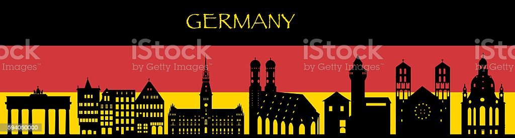 Germany Skyline vector art illustration